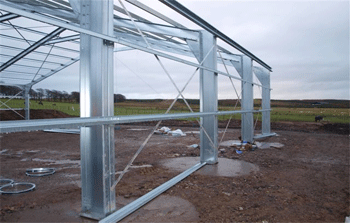 steel frame/foundations